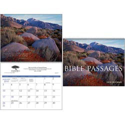 Custom imprinted Bible Passages Executive Calendar