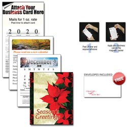 Custom imprinted 13 Month Magnetic Business Card Calendars w/ Cover