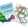 Six Christmas Shape SQUIGGLES Rubber Bands