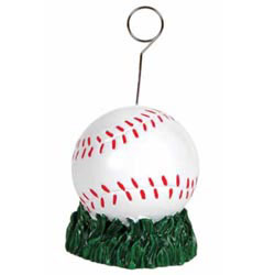 Custom imprinted Baseball Photo/Balloon Holder
