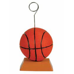 Custom imprinted Basketball Photo/Balloon Holder