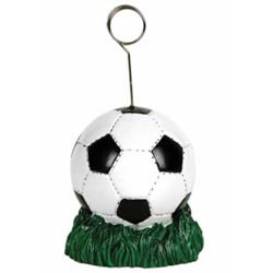 Custom imprinted Soccer Ball Photo/Balloon Holder