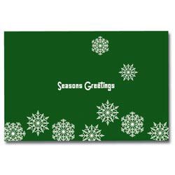 Custom imprinted Holiday Sound Cards - Holiday Snowflakes