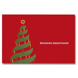Custom imprinted Holiday Sound Cards - Holiday Tree