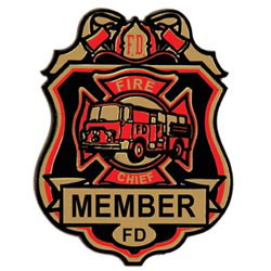 Custom imprinted Fire Chief Badge