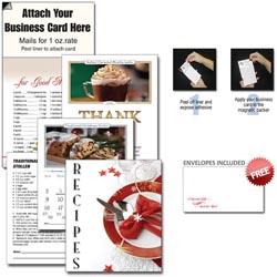 Custom imprinted 13 Month Recipe Business Card Calendar w/ Cover