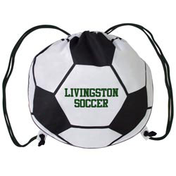 Custom imprinted Soccer Cinch Bag