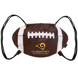 Custom imprinted Football Cinch Bag