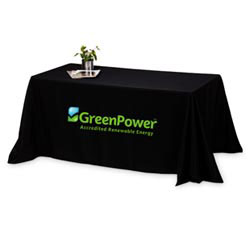 Custom imprinted 4-Sided 6' Throw Style Table Cover