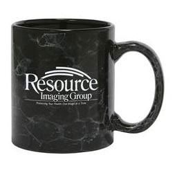 Custom imprinted 11 oz. Marbleized Coffee Mug