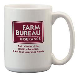 Custom imprinted 15 oz. El Grande Coffee Mug - White