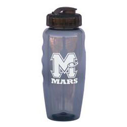 Custom imprinted 28 oz. Gripper Bottle with Finger Grips
