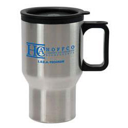 Custom imprinted 16 oz. Stainless Steel Driver's Mug