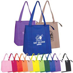 Custom imprinted Eco Chill Jr. Grocer Tote