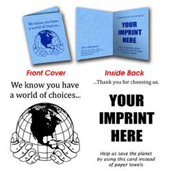 Custom imprinted Compressed Sponge Cloth Cards