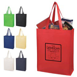 Custom imprinted Laminated Non-woven Shopper Tote