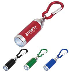 Custom imprinted Mini Aluminum Led Light With Matching Carabiner