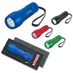 Custom imprinted Aluminum Led Torch Light With Strap