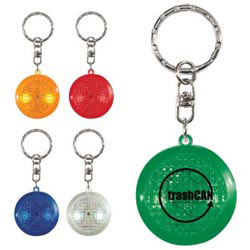 Custom imprinted Round Soft Touch Led Key Chain