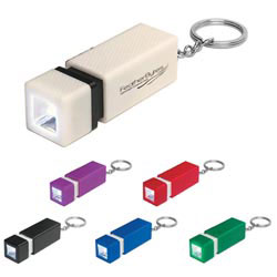 Custom imprinted Square Led Key Chain