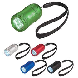Custom imprinted Small Aluminum Stubby Led Flashlight With Strap