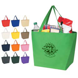 Custom imprinted Non - Woven Budget Tote Bag