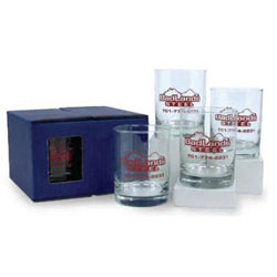Custom imprinted 13 1/2 oz DOF Glass Set