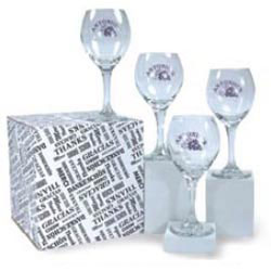 Custom imprinted 13 1/2 oz Wine Glass Set