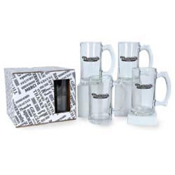 Custom imprinted 12 oz Stein Glass Set