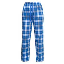 Custom imprinted Royal/Silver Flannel TCrd Pant