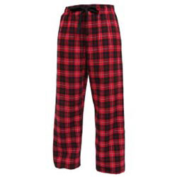 Custom imprinted Red/Black Flannel Pant w/ Taping