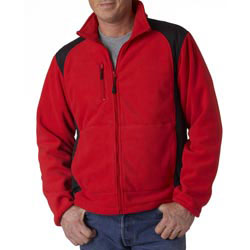 Custom imprinted UltraClub Men's Outdoor Escape Full-Zip Performanc