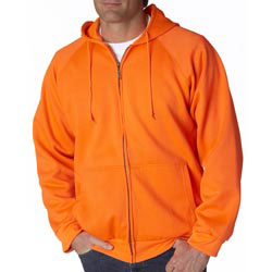 Custom imprinted UltraClub Adult Rugged Wear Thermal-Lined Full-Zip