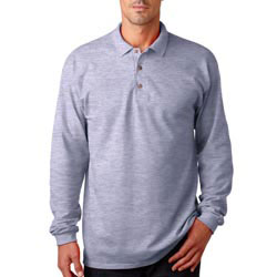 Custom imprinted Gildan Adult 6.5-oz. Ultra Cotton Long-Sleeve Piqu