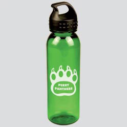 Custom imprinted 24 oz Poly-Pure Bottle with Crest Lid