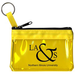 Custom imprinted Key Ring Zippered Translucent Pouch