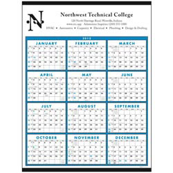 Custom imprinted Span-A-Year Non-Laminated Calendar