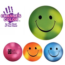 Custom imprinted Mood Smiley Face Stress Ball