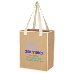 Custom imprinted Small Craft Paper Laminated Polypropylene Shopper