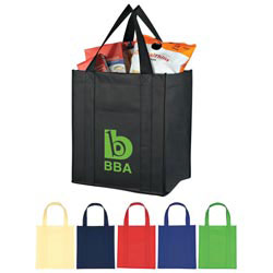 Custom imprinted Matte Laminated Non-Woven Shopper Tote Bag