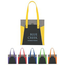 Custom imprinted Non-Woven Trinity Tote Bag