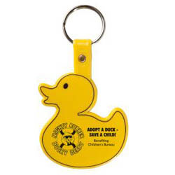 Custom imprinted Duckie Key Tag
