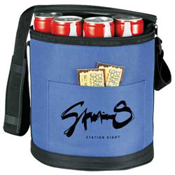 Custom imprinted Round Pop-Up Insulated Cooler
