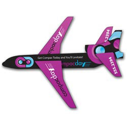 Custom imprinted Paper Airplane Jet UV Coated