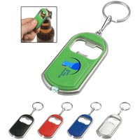 Custom imprinted Bottle Opener Key Chain With LED Light