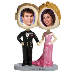 Custom imprinted Prom Couple Bobble Heads