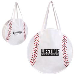Custom imprinted Baseball Tote