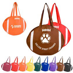 Custom imprinted Football Tote