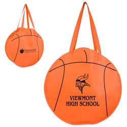 Custom imprinted Basketball Tote