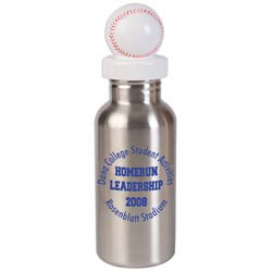 Custom imprinted Stainless Bottle with Baseball Lid